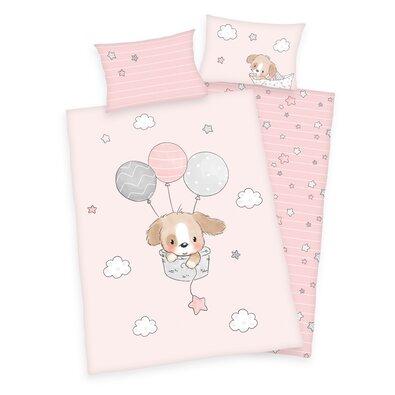 Detské bavlnené obliečky do postieľky Sweet puppy, 100 x 135 cm, 40 x 60 cm
