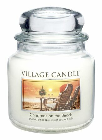 Village Candle Vonná svíčka ve skle, Vánoce na pláži - Christmas on the beach, 397 g, 397 g