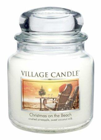Village Candle Vonná svíčka ve skle, Vánoce na pláži - Christmas on the beach, 397 g, 397 g