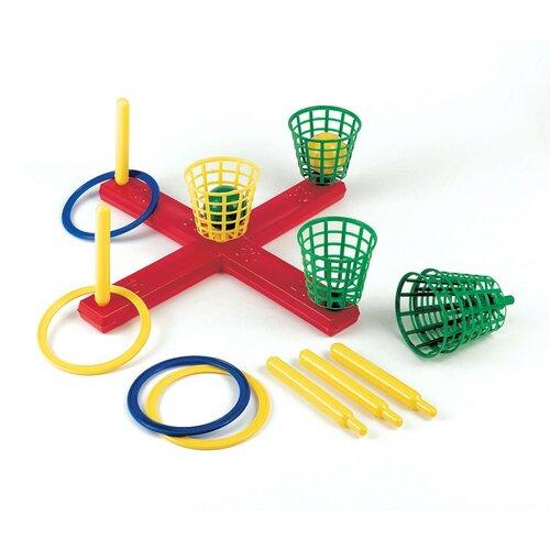 Frabar kříž s košíky a míčky, kroužky do písku