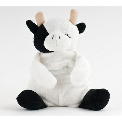 Hřejivý plyšák, kravička, bílá + černá