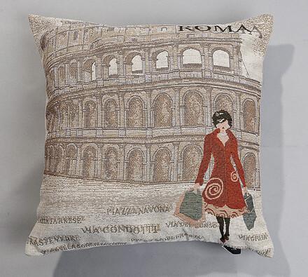 Gobelínový povlak na polštář Roma, 43 x 43 cm