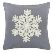 Față de periniță Snowflake gri, 40 x 40 cm