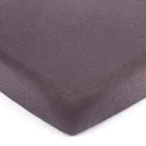 Cearșaf de pat 4Home jersey gri închis, 90 x 200 cm