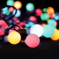 Solight Světelný venkovní řetěz 100 LED s dálkovým ovladačem, 10 m