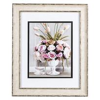 Obrázok kytice kvetov a šálky s dekorom Rose