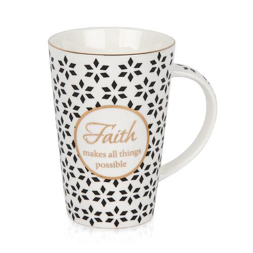 Porcelánový hrnček v darčekovej krabičke Faith, 400 ml