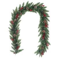 Ghirlandă de Crăciun Levante, verde, 200 cm