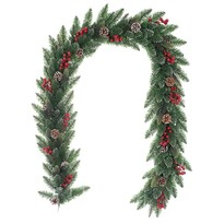 Levante karácsonyi girland zöld, 200 cm