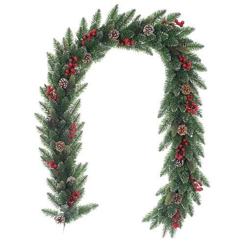 Vánoční girlanda Levante zelená, 200 cm