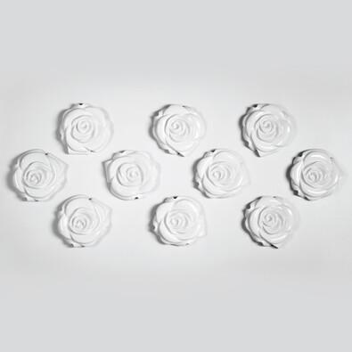 3D tapeta ROSE bílá