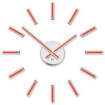Future Time  FT9400RD Modular red Dizájner öntapadó óra, átmérő: 40 cm
