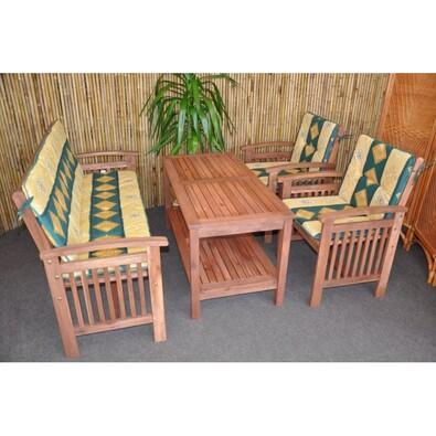 Záhradní nábytek s lavicí, zelená