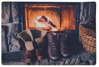 Rohožka Christmas Warmness, 38 x 58 cm