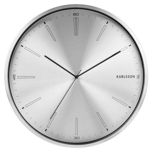 Karlsson 5811SI Designové nástěnné hodiny  pr. 40 cm
