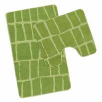 Komplet dywaników łazienkowych Avangard Kostka zielony, 50 x 80 cm, 50 x 40 cm