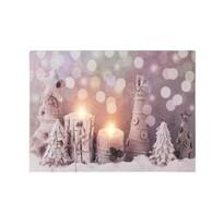 LED obraz na plátně Zimní čas, 40 x 30 cm
