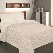 Cuvertură de pat Indiana bej, 240 x 260 cm
