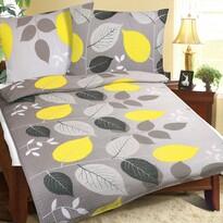 Bellatex Levelek krepp ágynemű, sárga