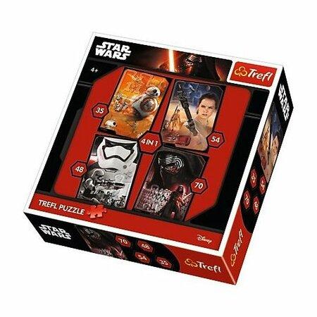 Puzzle Trefl 4v1 Star Wars 35 48 54 a 70 dílků