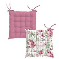 Rózsa steppelt ülőke, 40 x 40 cm