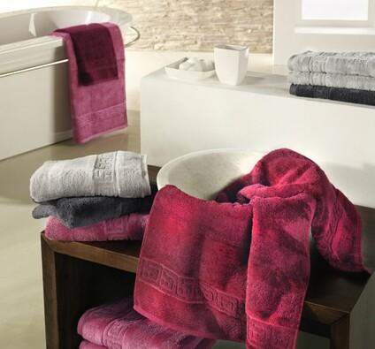 Cawö frottier ručník Noblesse červený, 50 x 100 cm