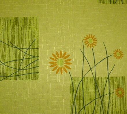 Teflonový ubrus Daisy, zelená, 120 x 140 cm