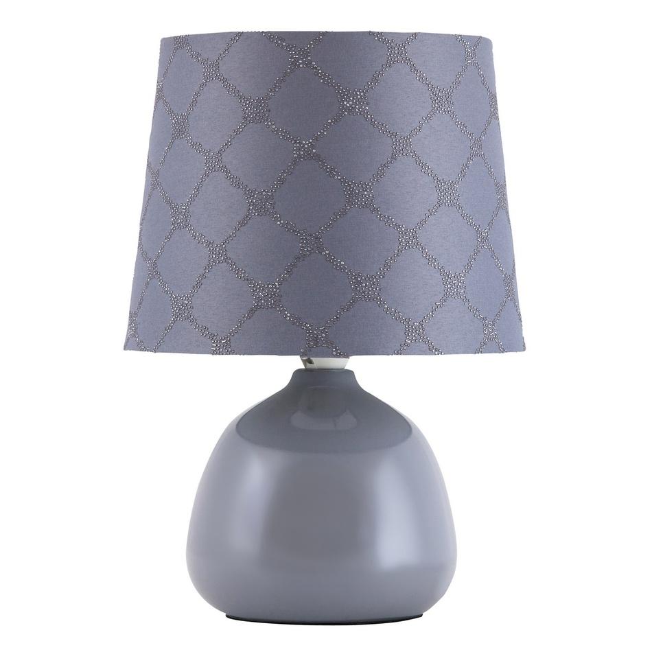 Fotografie Rabalux 4381 Ellie stolní lampa, šedá