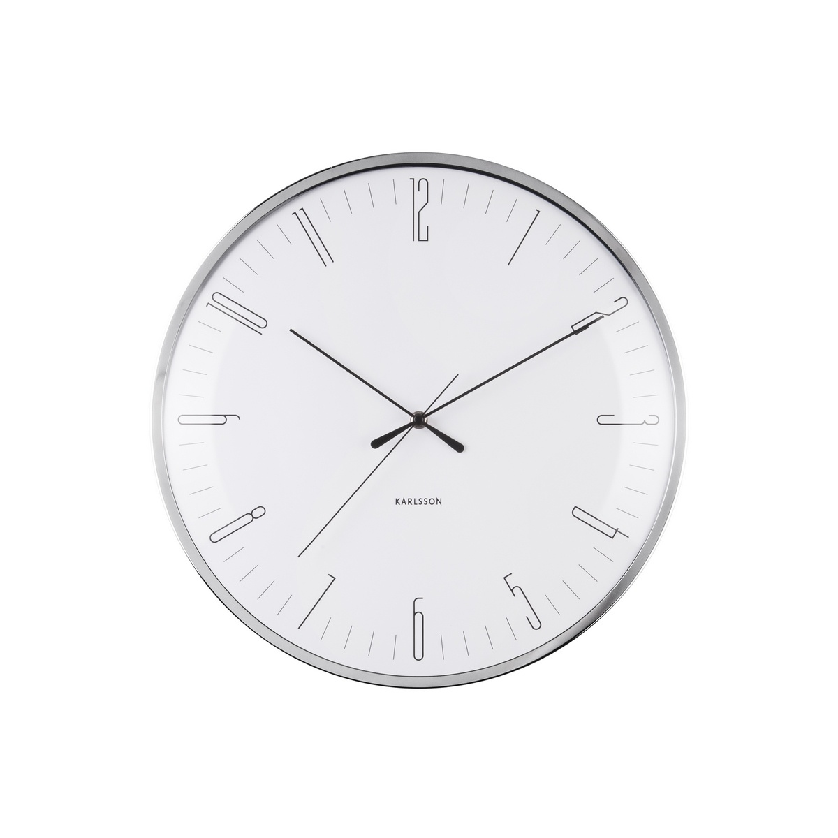 Nástenné hodiny Karlsson Dragonfly Dome glass KA5754WH, 40cm