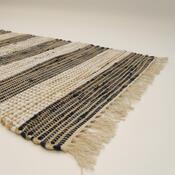 Ručně tkaný koberec Juta tmavá, 60 x 90 cm