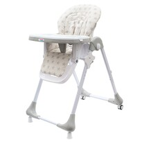 New Baby Jedálenská stolička Gray Star - ekokoža