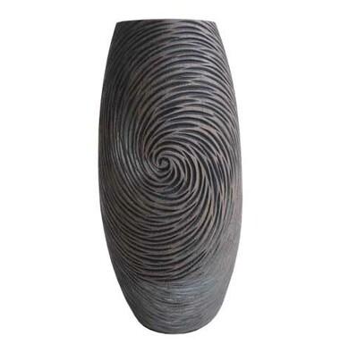 Wazon w naturalnych ciemnych kolorach 35 cm