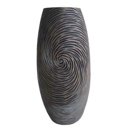 Váza v prírodných tmavých farbách 35 cm,