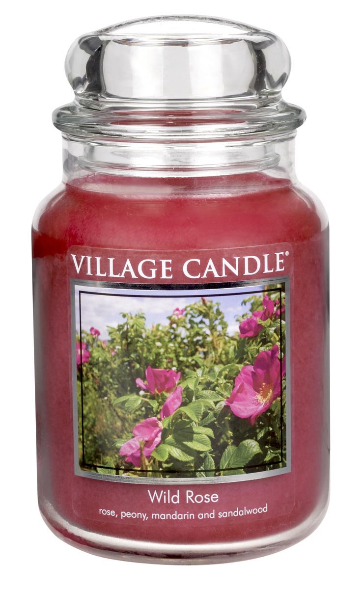 Village Candle Vonná svíčka ve skle, Divoká růže - Wild Rose, 645 g, 645 g