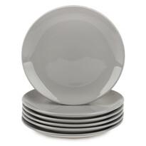 Altom Zestaw porcelanowych talerzy deserowych, Monokolor 19 cm, szary, 6 szt.