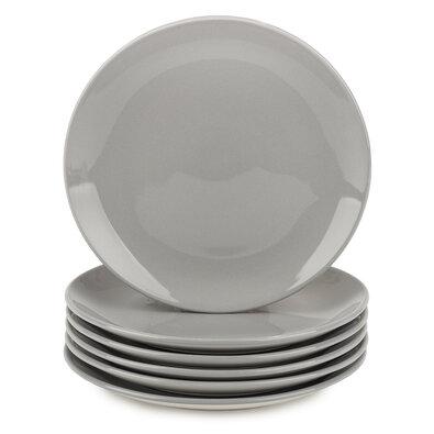 Altom Monokolor porcelán desszertes tányér szett, 19 cm, szürke, 6 db