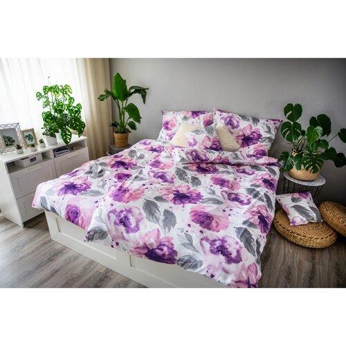 Ema Pünkösdi rózsa szatén ágynaműhuzat, 140 x 200 cm, 70 x 90 cm