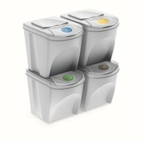 Coșuri selectare gunoi Sortibox 25 l, 4 buc., alb