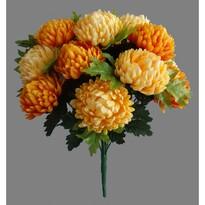 Umelá kytica Chryzantéma, oranžová