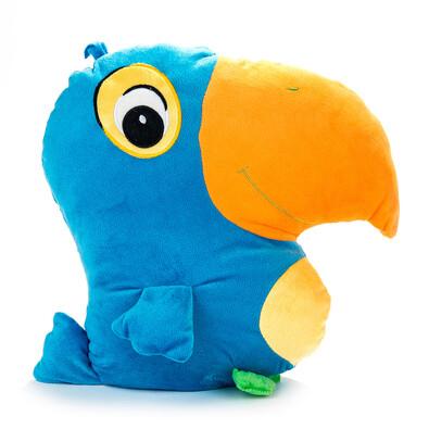 Polštářek Papoušek modrý, 38 x 36 cm