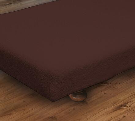 Napínací přehoz na postel, tmavě hnědá, 90 x 190 cm