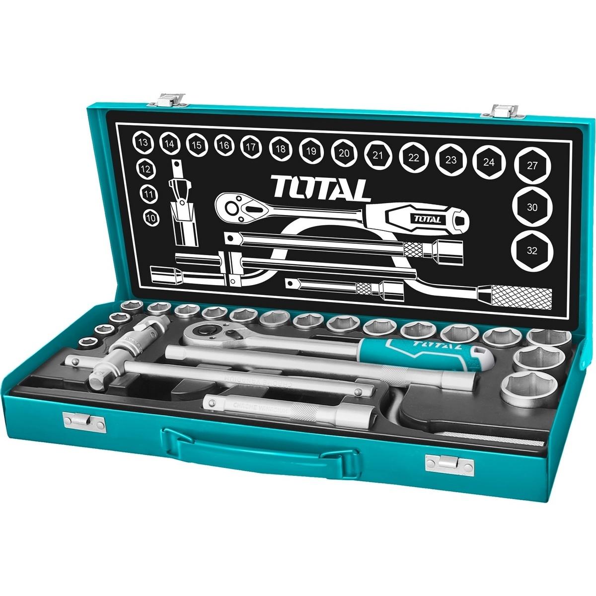 Total Tools Sada nástrčných hlavíc, 24 ks