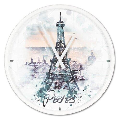 Zegar ścienny Eiffel tower, śr. 30,5 cm