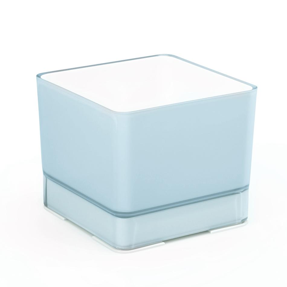 Plastový kvetináč Cube 120 modrá