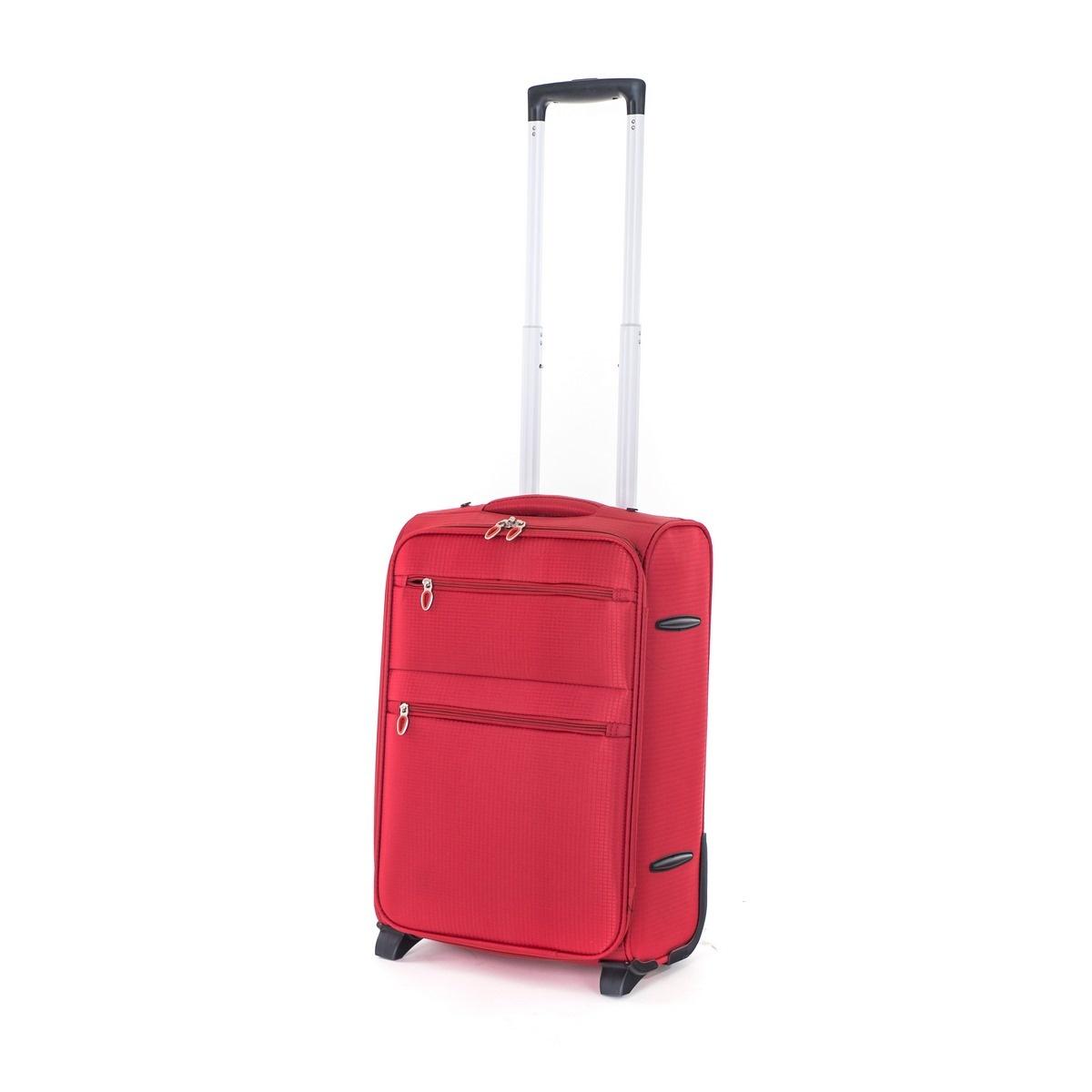 Pretty UP Cestovní textilní kufr TEX15 S, červená