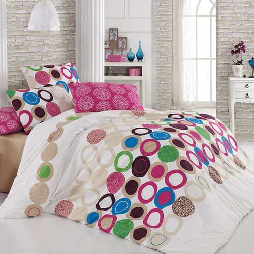 Tip Trade Bavlnené obliečky Beneton Fushia, 220 x 200 cm, 2 ks 70 x 90 cm
