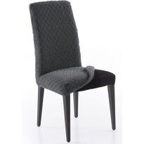 Multielastický poťah na celú stoličku Martin tmavosivá, 60 x 60 x 65 cm, sada 2 ks