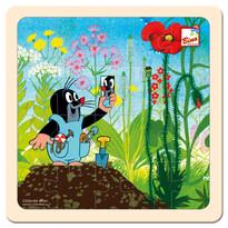 Puzzle Bino Cârtiță în grădină