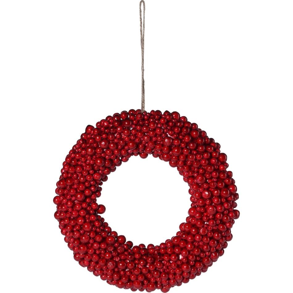 Podzimní věnec Red Berries červená, pr. 28 cm