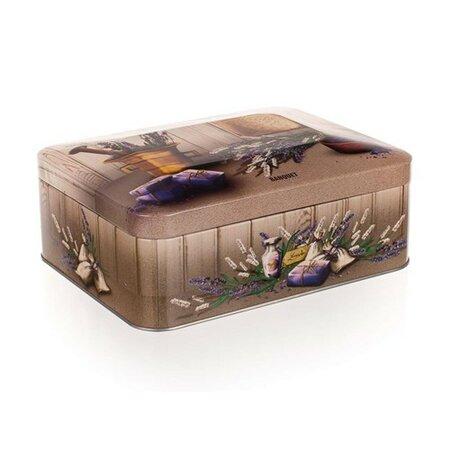 Banquet Plechový box na čaj Lavender